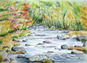 Vermont Autumn Originals - Vermont Trout Stream by Brian Degnon