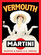 Vector Prints - Vermouth Martini Print by Gary Grayson