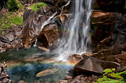 Rainbow Metal Prints - Vernal Falls Metal Print by Cat Connor