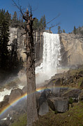 California Adventure Framed Prints - Vernal Falls with rainbow Framed Print by Jane Rix