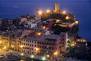 Mediterranean Landscape Posters - Vernazza at Twilight Poster by Andrew Soundarajan