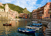 Boatman Framed Prints - Vernazza Boatman - Cinque Terre Italy Framed Print by Carl Amoth