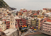 Colorful Houses Prints - Vernazza Italy Print by Kim Fearheiley