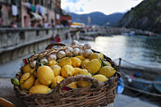 Garlic Framed Prints - Vernazza Still Life Framed Print by George Oze