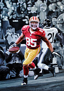 49ers Painting Prints - Vernon Davis 24x36 Print by Absolon Moreau