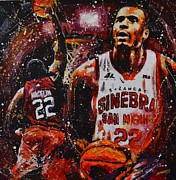 Basketball Paintings - Vernon Macklin by Janddie Castillo