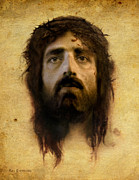 Christ Face Digital Art Prints - Veronicas Veil Print by Ray Downing