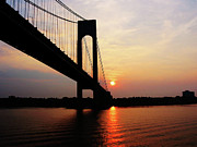 Verrazano Bridge At Dawn Print by Susan Savad