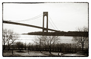 John Rizzuto Framed Prints - Verrazano From Brooklyn 1990s Framed Print by John Rizzuto