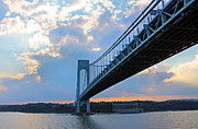 Staten Island Framed Prints - Verrazano-Narrows Bridge Framed Print by Kristin Elmquist