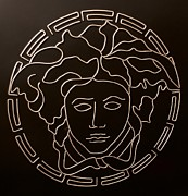 Versace Prints - Versace Medusa Head Print by Peter Virgancz