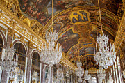 Riches Metal Prints - Versailles Ceiling Metal Print by Brian Jannsen