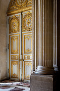 Wood Castle Posters - Versailles Door Poster by Brian Jannsen
