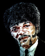 Mustache Art - Version II of Samuel L. Jackson as Jules Winnfield in Pulp Fiction       by Jim Fitzpatrick