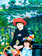 Cyril Paintings - Version of Renoirs Two Sisters on the Terrace by Lorna Maza