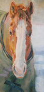 Horse Art Pastels Framed Prints - Vertical Bellator Framed Print by Kimberly Santini