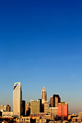 Charlotte Photo Prints - Vertical skyline Charlotte NC Print by Patrick Schneider