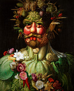 Lettuce Mixed Media Prints - Vertumnus Print by Giuseppe Arcimboldo