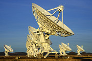 Telescopes Posters - Very large Array Of Radio Telescopes 5 Poster by Bob Christopher