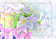 Debbie Portwood Prints - Very Tiny Wildflower boquet Digital paint Print by Debbie Portwood
