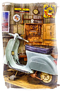 Mobiles Framed Prints - Vespa Scooter Framed Print by Heiko Koehrer-Wagner