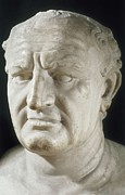 Antique Sculpture Framed Prints - Vespasian, Titus Flavius Vespanius Framed Print by Everett