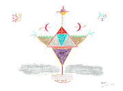 Empowerment Drawings Prints - Vessel of Empowerment Print by Mark David Gerson