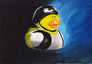 Outlaw Paintings - Vest Outlaw Ducky by Nicko Gutierrez