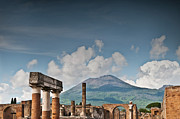 Ancient Ruins Prints - Vesuvius Print by Marion Galt