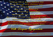 Sympathy Metal Prints - Veteran Sympathy Metal Print by Robyn Stacey