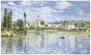 Vetheuil Framed Prints - Vetheuil in Summer Framed Print by Claude Monet