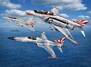 Sharks Art - VF-111 Sundowners Heritage by Stu Shepherd