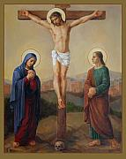 Cross Painting Prints - Via Dolorosa 12 Print by Svitozar Nenyuk