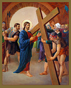 Zion Painting Prints - Via Dolorosa 2. Stations of the Cross Print by Svitozar Nenyuk