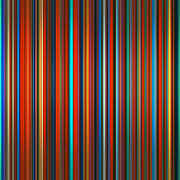 Graduated Background Prints - Vibrant colors graduated stripes abstract Print by Stephen Rees