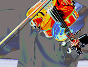 Music Digital Art - Vibrant Violin by Kae Cheatham