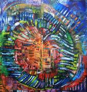 Pallet Knife Painting Prints - Vibration Print by Michael Kulick