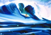 Surfing Art Painting Framed Prints - Vibration Of Youth #2 Framed Print by John YATO