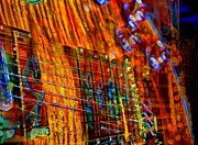 Vibrations Digital Guitar Art Bt Steven Langston Print by Steven Lebron Langston