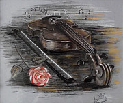 Violin Pastels - Vibrations by Lily April