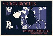 Belle Epoque Framed Prints - Victor Bicycles Framed Print by Sanely Great