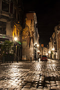 Cobblestones Prints - Victor Sackville in the Dark Print by Juli Scalzi