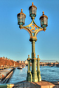 London Pier Framed Prints - Victoria and Albert Streetlamp Framed Print by Deborah Smolinske