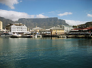 Cape Town Framed Prints - Victoria and Alfred Waterfront Framed Print by Oliver Johnston