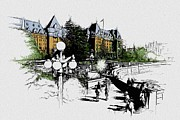 Whistler Sketch Paintings - Victoria Art 001 by Catf
