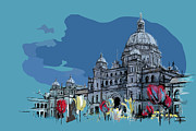 Vancouver Painting Prints - Victoria Art 007 Print by Catf
