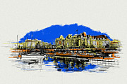 Whistler Sketch Paintings - Victoria Art 011 by Catf
