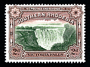 Victoria Mixed Media - Victoria Falls - 2d Black by Outpost Imagery