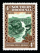 Victoria Mixed Media - Victoria Falls Bridge - 4d Black by Outpost Imagery