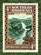 Victoria Mixed Media - Victoria Falls Bridge - 4d ED by Outpost Imagery